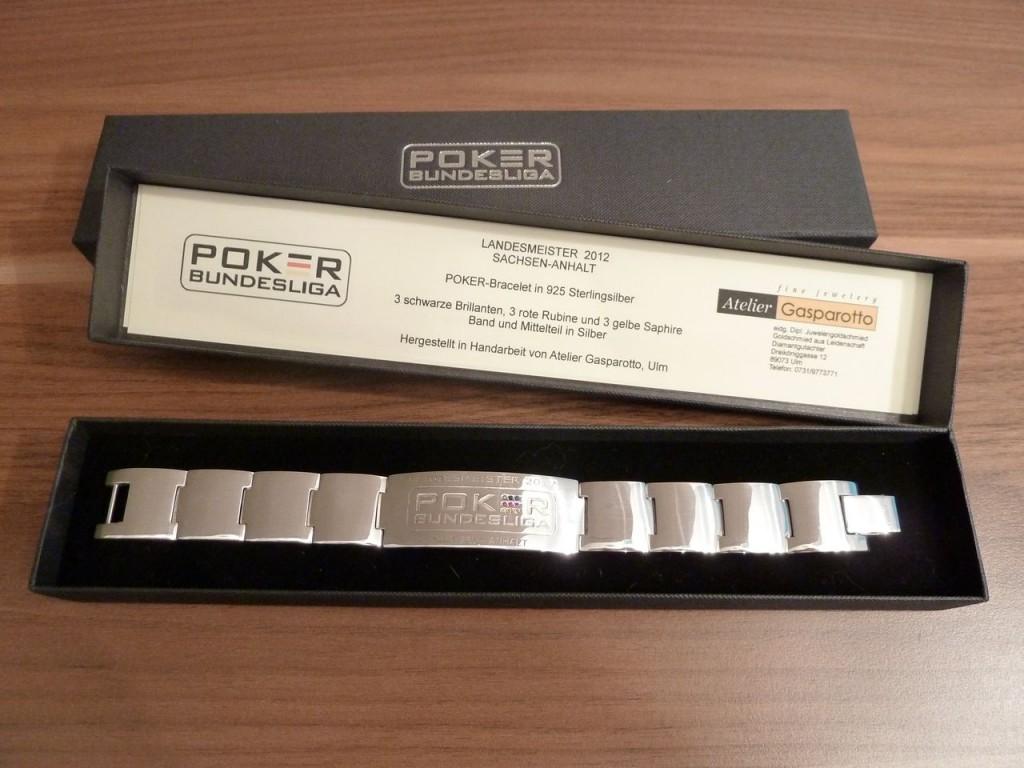"Original Poker-Bundesliga Bracelet ""Landesmeister Sachsen 2012"""