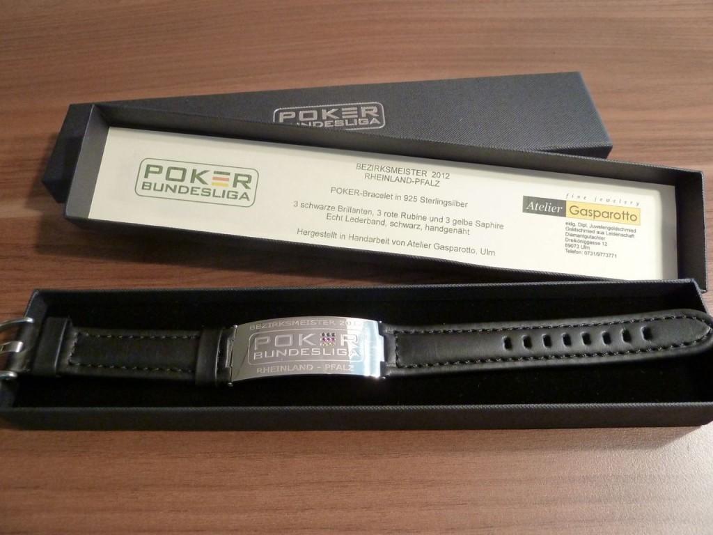 "Original Poker-Bundesliga Bracelet ""Bezirksmeister 2012 Rheinland-Pfalz"""